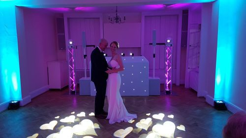 Small Room with White Wedding Package and Mood Lighting