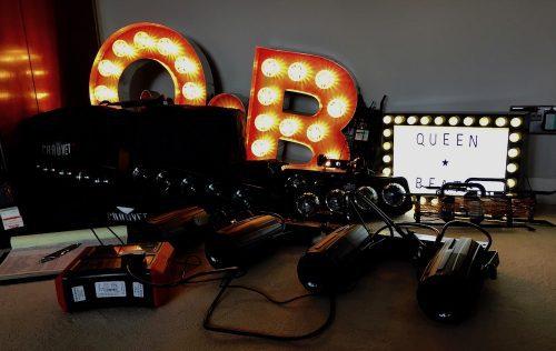 Testing disco and decorative lighting.